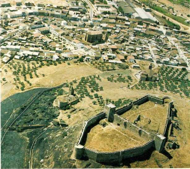 foto aérea desde castillo